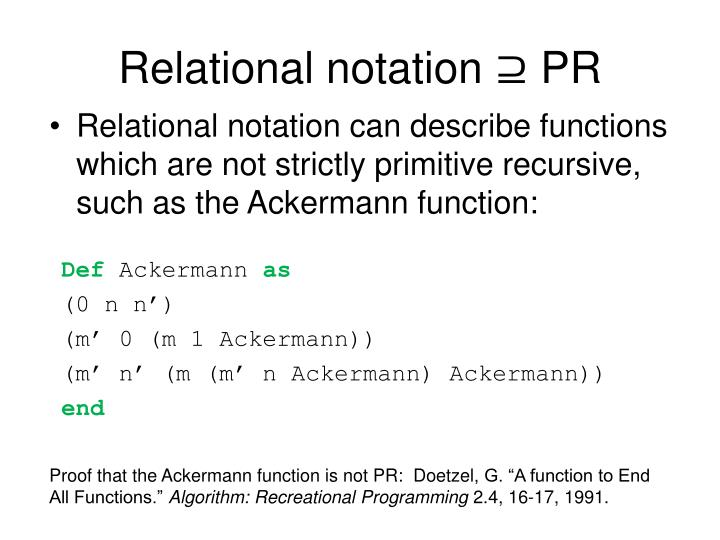 Relational notation