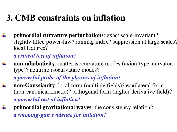 3. CMB constraints on