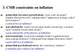 3 cmb constraints on inflation