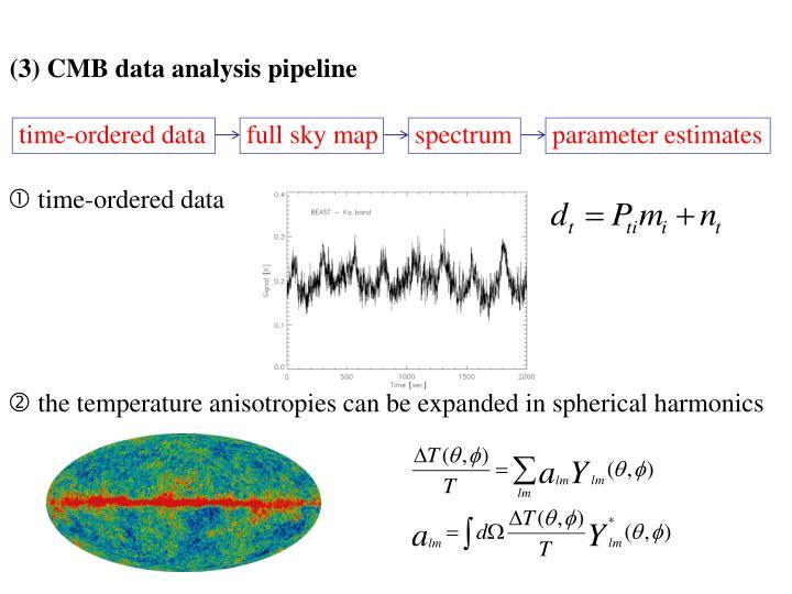 (3) CMB data analysis pipeline