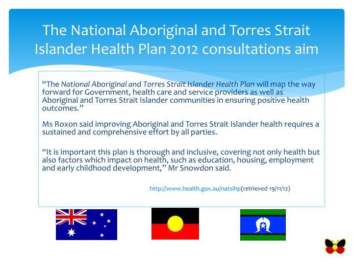 National Aboriginal And Torres Strait Islander Health Plan