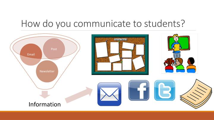 How do you communicate to students?