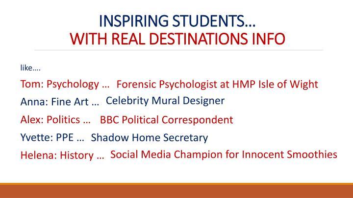 INSPIRING STUDENTS…