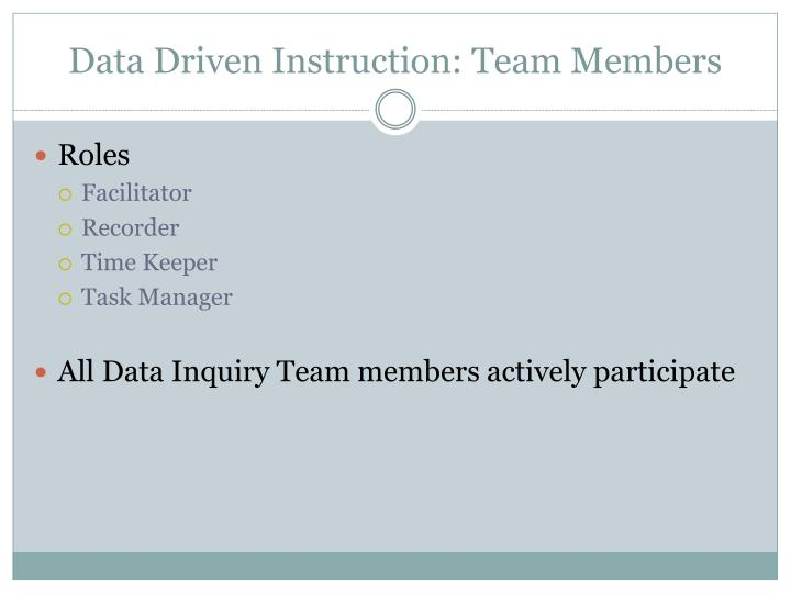 Data Driven Instruction: