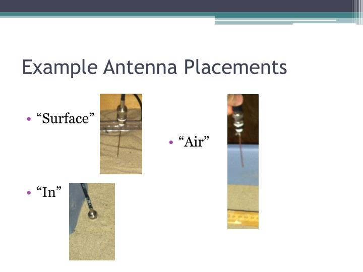 Example Antenna Placements