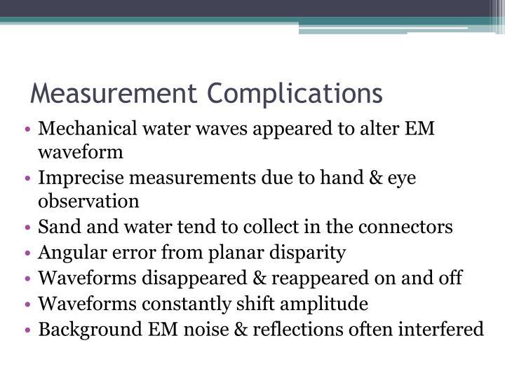 Measurement Complications