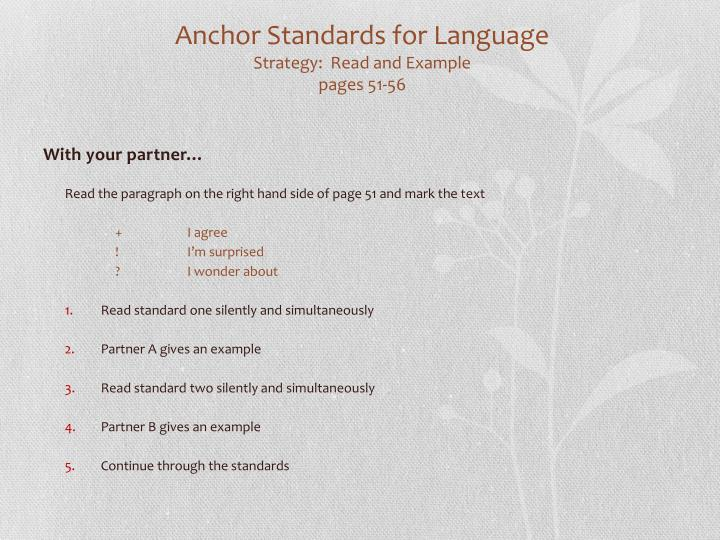 Anchor Standards for Language