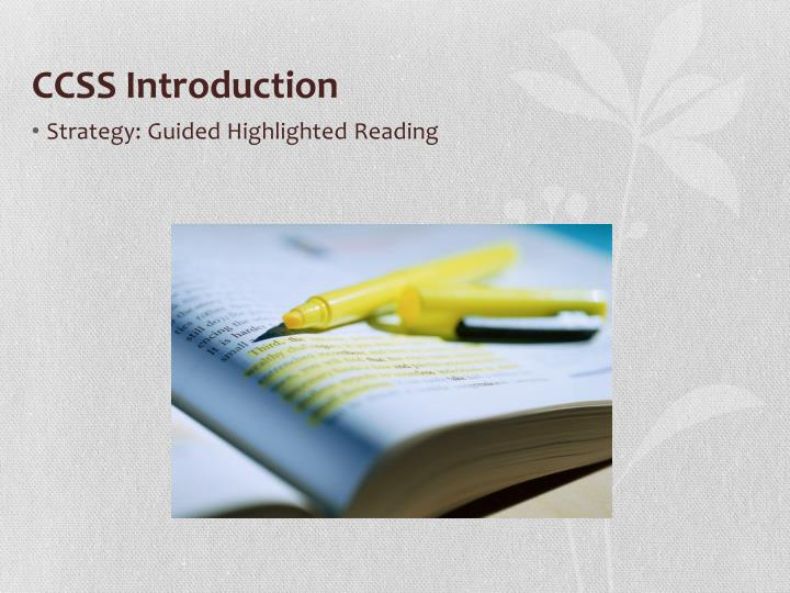 CCSS Introduction