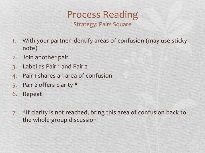 Process Reading