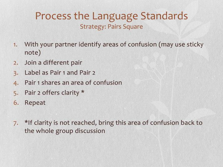 Process the Language Standards