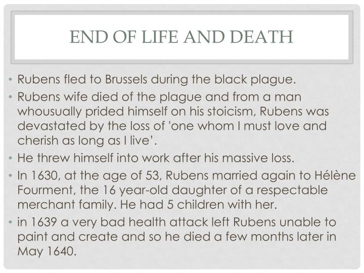 End of life and death