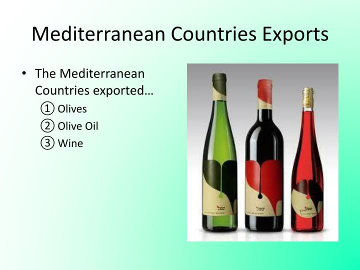 Mediterranean Countries Exports