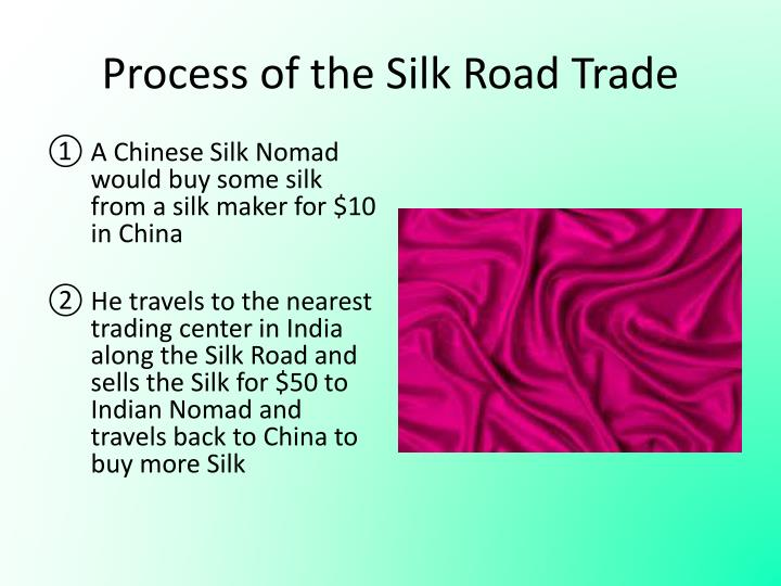 Process of the Silk Road Trade