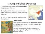 shang and zhou dynasties