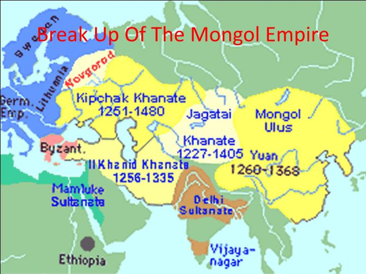 Break Up Of The Mongol Empire