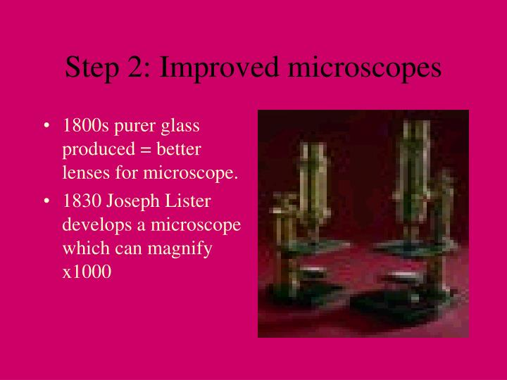 Step 2: Improved microscopes