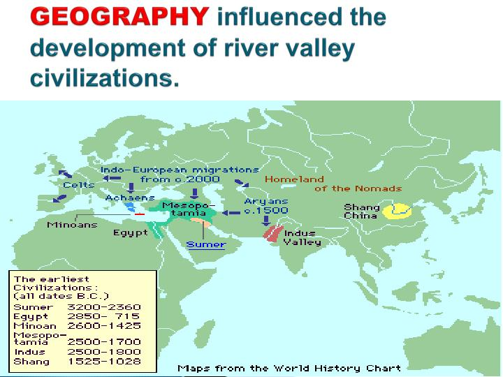 geography influenced civilization Lesson plan: early river valley civilizations  these three civilizations mutually influenced  cite examples that illustrate how geography influenced .