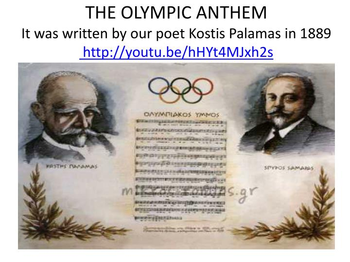 THE OLYMPIC ANTHEM