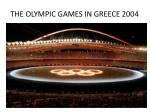 the olympic games in greece 2004