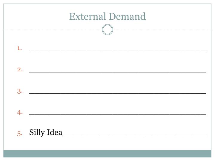 External Demand