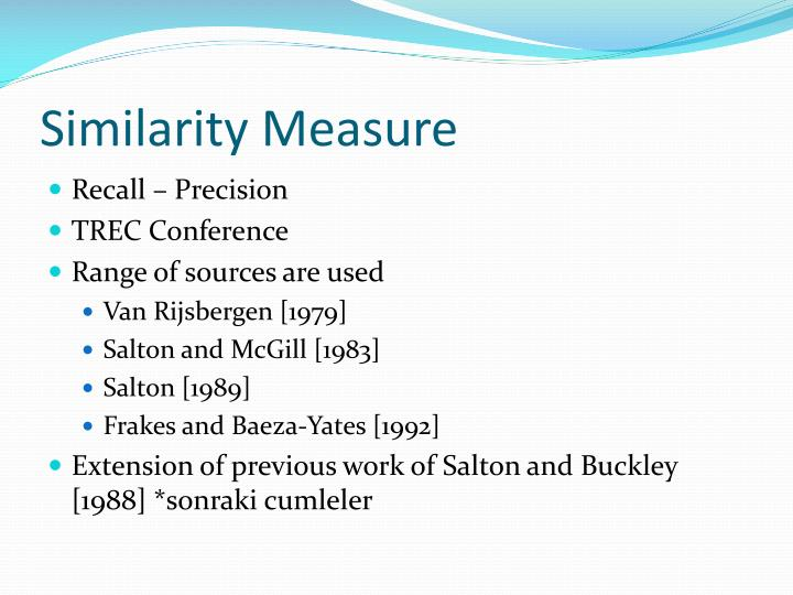 Similarity measure