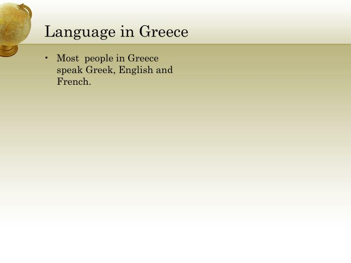 Language in Greece