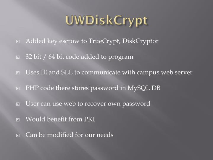 UWDiskCrypt