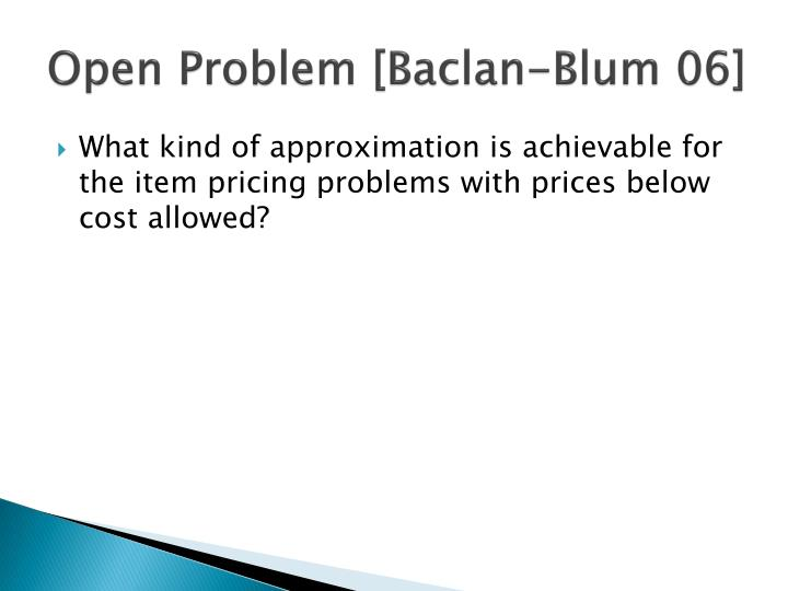 Open Problem [