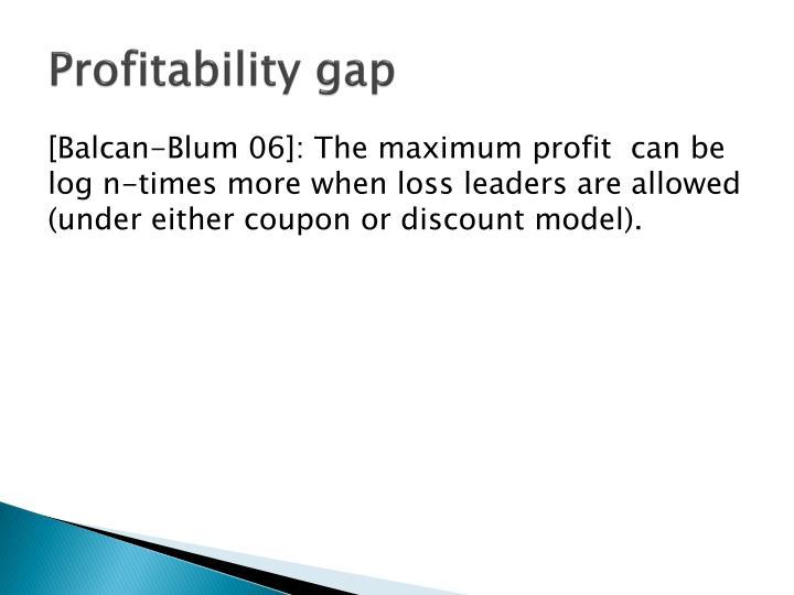 Profitability gap