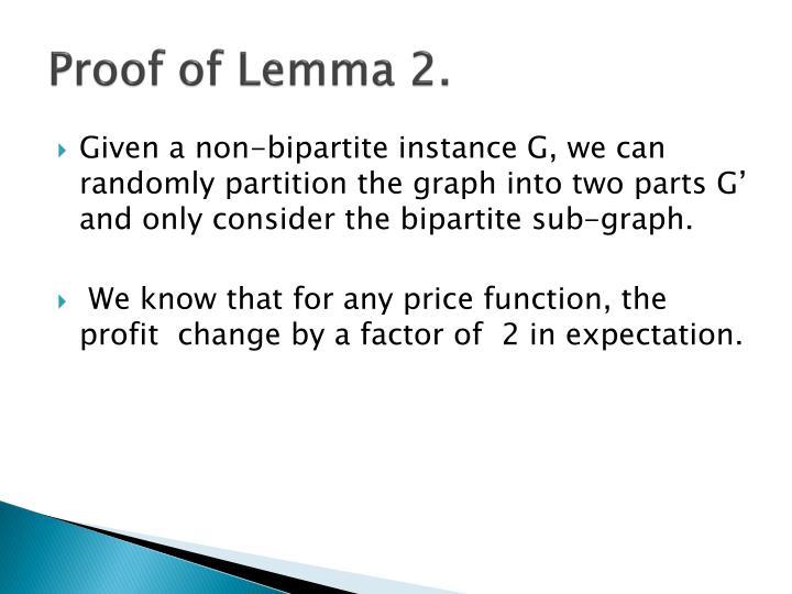 Proof of Lemma 2.