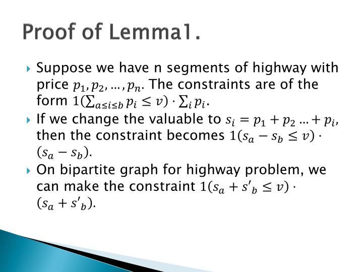 Proof of Lemma1.