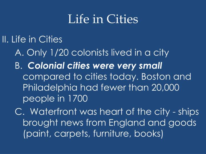Life in Cities