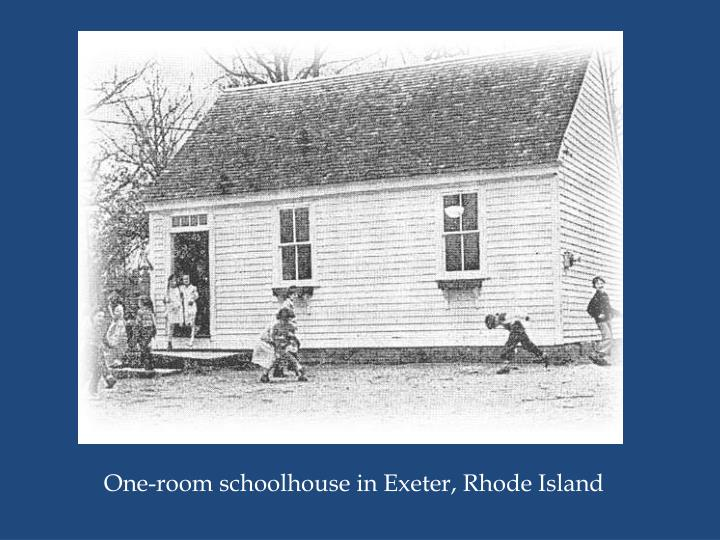 One-room schoolhouse in Exeter, Rhode Island