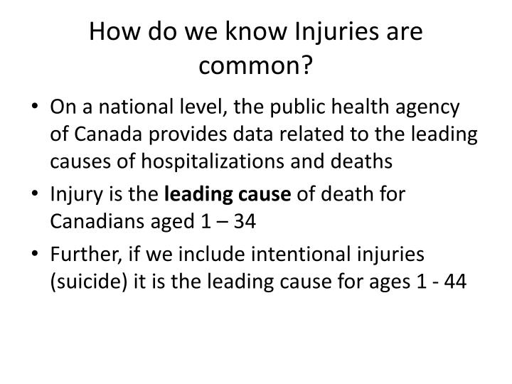 How do we know Injuries are common?