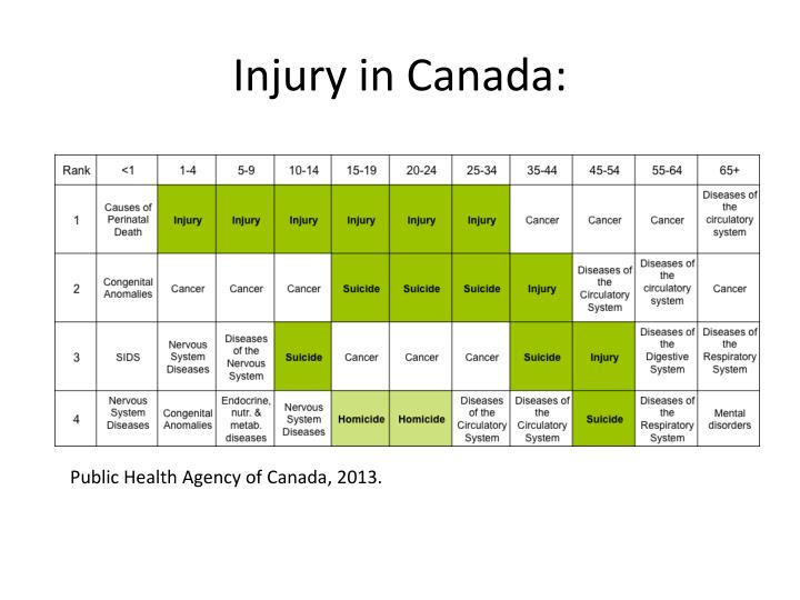 Injury in Canada: