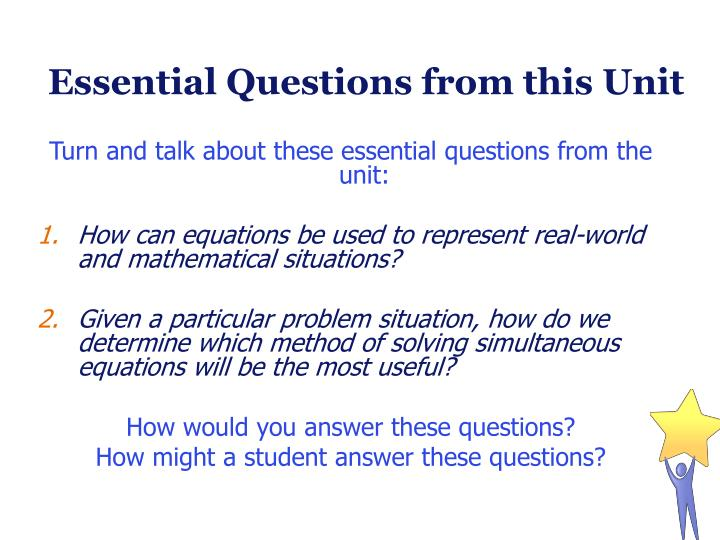 Essential Questions from this Unit