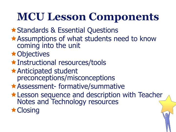 MCU Lesson Components