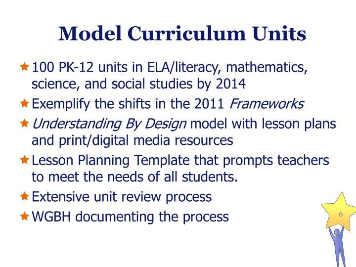 Model Curriculum Units