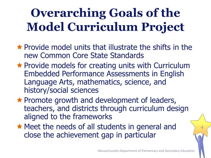 Overarching Goals of the Model Curriculum Project
