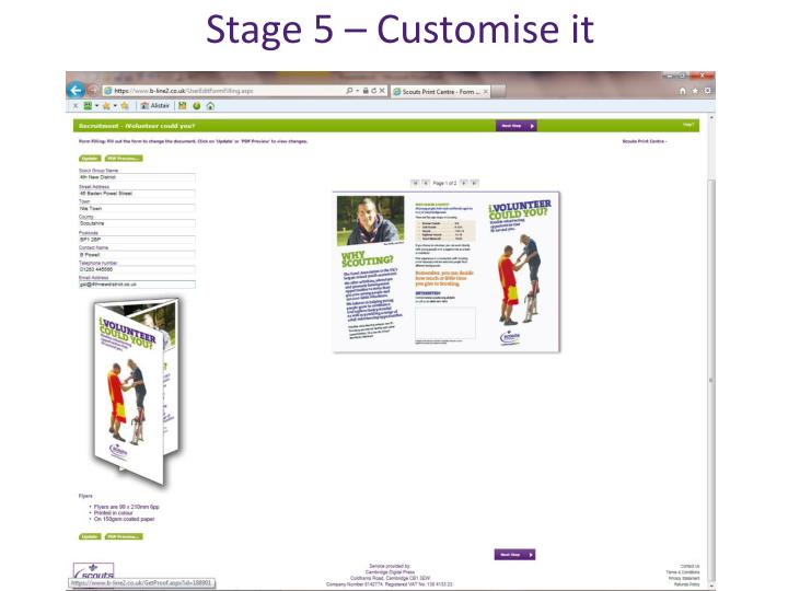Stage 5 – Customise it