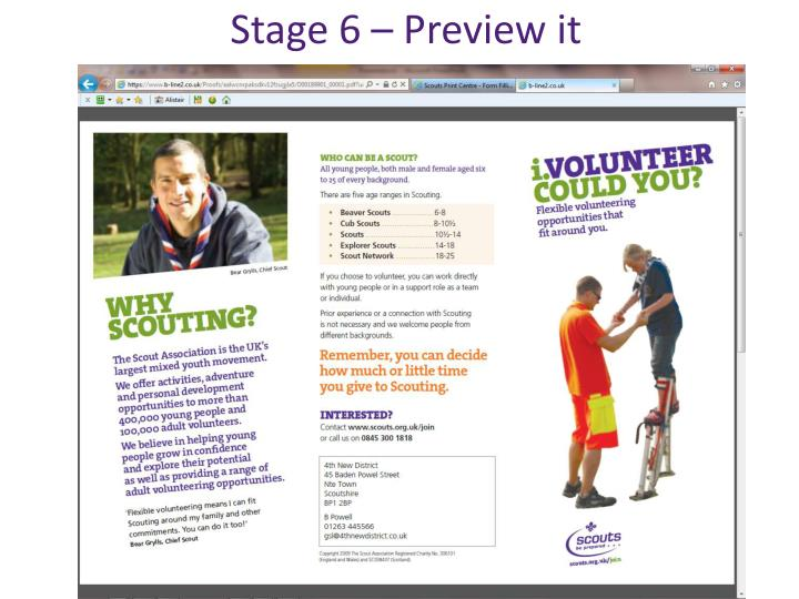 Stage 6 – Preview it