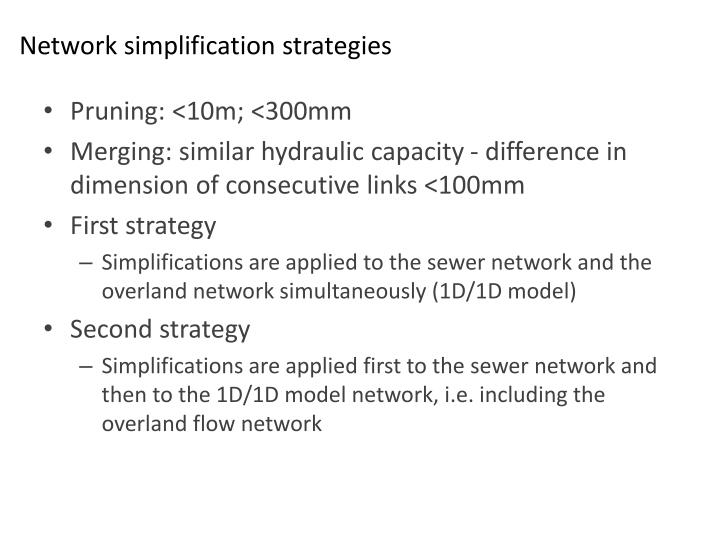 Network simplification strategies