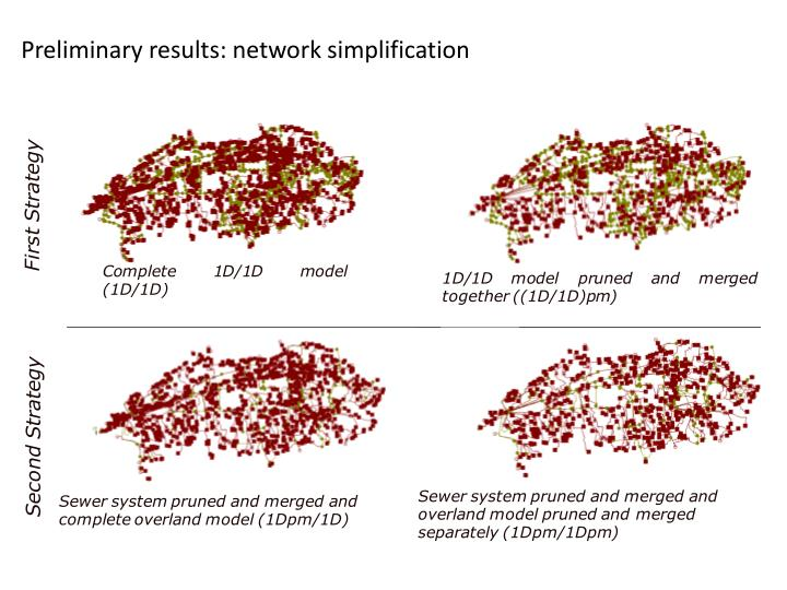 Preliminary results: network simplification