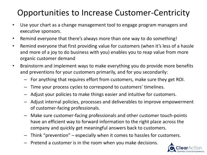 Opportunities to Increase Customer-Centricity