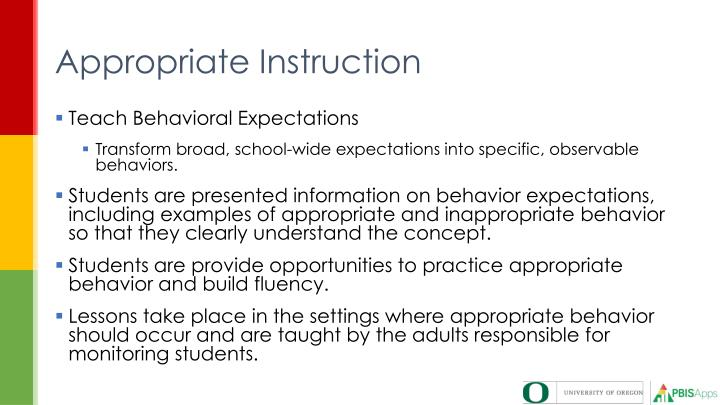 Appropriate Instruction