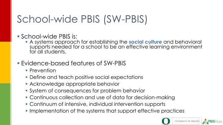 School-wide PBIS (SW-PBIS)