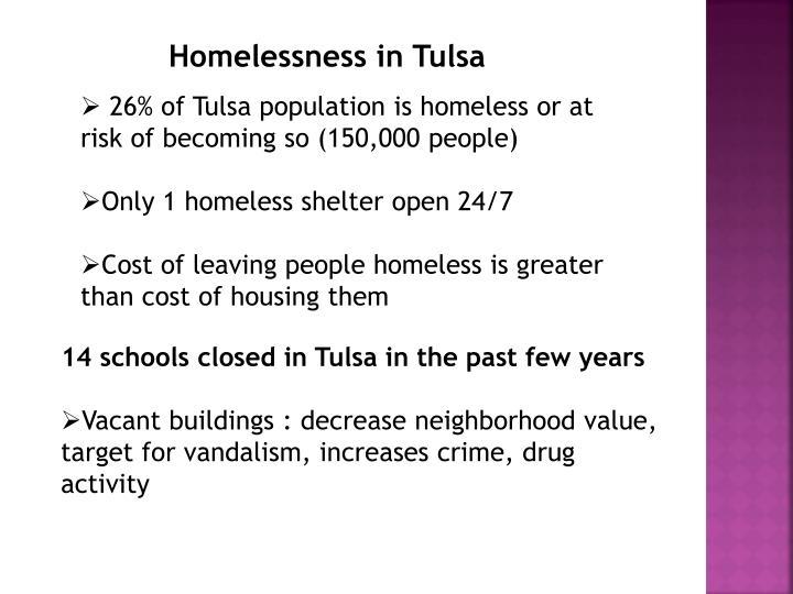 Homelessness in Tulsa