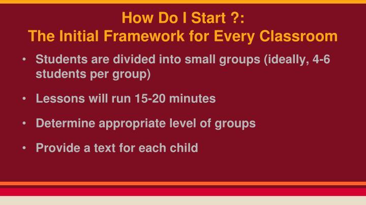 How Do I Start ?: