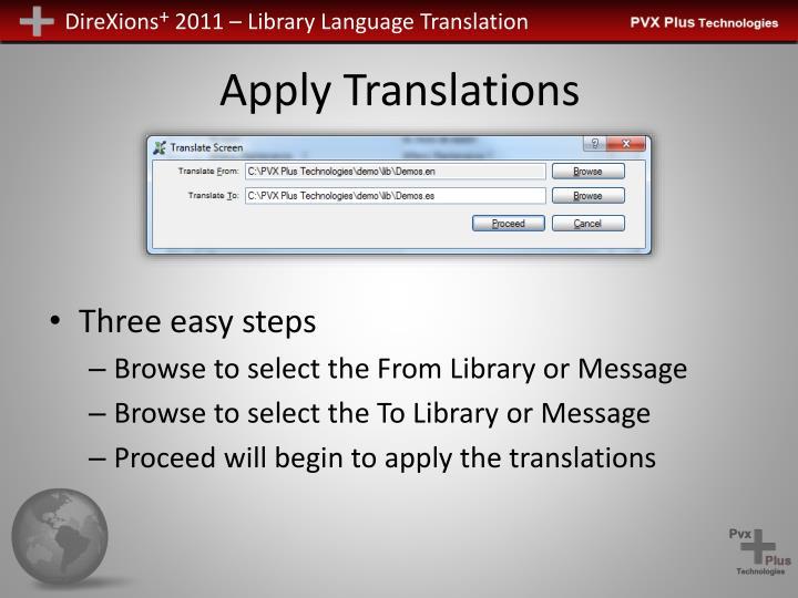 Apply Translations