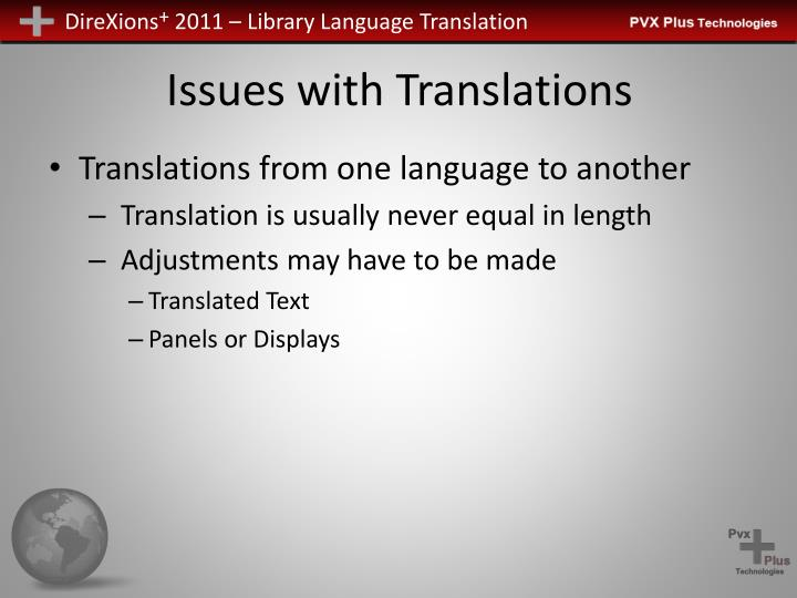Issues with Translations